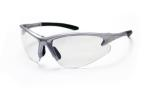 SAS 540-0500 DB2 Safety Glasses - Silver Frame with Clear Lens - Polybag (12 Pr)