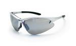 SAS 540-0503 DB2 Safety Glasses - Silver Frame with Mirror Lens - Polybag (12 Pr)