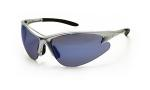 SAS 540-0509 DB2 Safety Glasses - Silver Frame with Ice Blue Mirror Lens - Polybag (12 Pr)