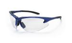 SAS 540-0700 DB2 Safety Glasses - Blue Frame with Clear Lens - Polybag (12 Pr)