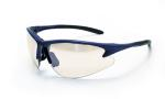 SAS 540-0702 DB2 Safety Glasses - Blue Frame with In/Outdoor Mirror Lens - Polybag (12 Pr)