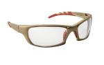SAS 542-0100 GTR Safety Glasses - Gold Frame with Clear Lens - Polybag (12 Pr)