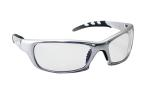 SAS 542-0200 GTR Safety Glasses - Silver Frame with Clear Lens - Polybag (12 Pr)