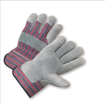 West Chester 548 Economy Split Cowhide Palm Rubberized Cuff Gloves