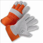 West Chester 558OR Select Split Cowhide Palm Rubberized Cuff Gloves