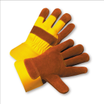 West Chester 558Y Select Russet Split Cowhide Palm Gloves