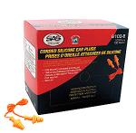 SAS Safety 6109-B Silicone Ear Plugs - Corded (Box of 100 pairs)