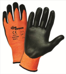 West Chester 703CONF Zone Defense™ Orange HPPE Shell with Black Nitrile Foam Palm Coat Gloves