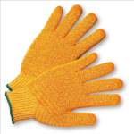 West Chester 708SKH Gold Honeycomb PVC Grip String Knit Gloves