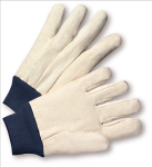 West Chester 710BKWK Cotton Poly 10 oz. Canvas Gloves with Navy Blue Knit Cuff