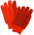 West Chester 710KORPD 10 oz Hi-Vis Orange Plastic Dot Canvas Glove