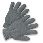 West Chester 712SG Heavy Weight String Knit Gray Poly/Cotton Gloves