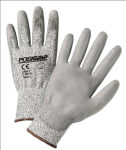 West Chester 713HUTS Touch Screen Gray PU Palm Coated Speckle Gray HPPE Gloves