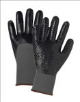 West Chester 713SNDT 3/4 Dip Nitrile With Nitrile Dots Gray Nylon Shell