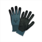 West Chester 715SBP Black Bi-Polymer Palm Coated Dotted Palm Gray Nylon Gloves