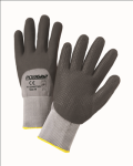 West Chester 715SNFTKD Black Foam Nitrile 3/4 Dip on Gray Nylon Shell with Dotted Palm