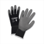 West Chester 713SUGB Gray PU Palm Coated Black Nylon Gloves