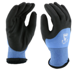 West Chester 15 Gauge Blue Nylon Liner W/ 7 Gauge Inner Acrylic Liner, Palm/Knuckle Dipped HPT Coated Gloves