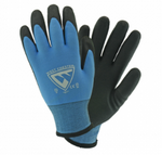West Chester 15 Gauge Blue Nylon Liner W/ 7 Gauge Inner Acrylic Liner, Palm Dipped HPT Coated Gloves