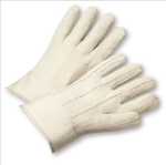 West Chester 718BT Quilted Cotton Double-Palm Band Cuff Gloves