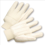 West Chester 718NO Quilted Cotton Double-Palm Knit Wrist Gloves