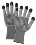 West Chester PosiGrip™ Black Nitrile Dots & Fingertips Grey String Knit Gloves