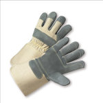 West Chester 800DP-AAA Premium Heavy Split Cowhide Double Palm Gloves
