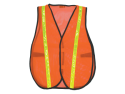 Nylon Orange Mesh Vest w/ Yellow Stripe