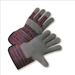 West Chester 858 Standard Split Cowhide Palm Rubberized Cuff Gloves