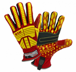 West Chester R15 Rigger Red/Yellow PVC Palm Cut Resistant Gloves