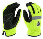 West Chester Hi-Viz Lime Positherm Slip On Water Resistant Cold Weather Gloves