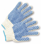 West Chester Blue PVC Block Grip White String Knit Gloves