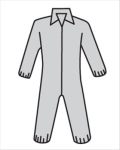 West Chester C3902 Posi M3 Gray Coverall w/Elastic Wrist & Ankle