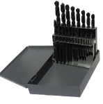 1/16 - 3/8 Drill America HSS Jobber Drill Bit Set, 21 Pieces (1/64 Increments): Made in USA