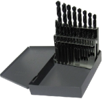 1/16 - 3/8 Cobalt Steel Jobber Drill Bit Set, 21 Pieces (1/64 Increments), Drill America Made in USA