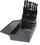 1/16 - 1/2 Drill America HSS Jobber Drill Bit Set, 29 Pieces (1/16 Increments) Made in USA