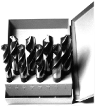 "9/16""-1""x16ths 8 Piece Cobalt Reduced Shank Drill Bit Set, Drill America Made in USA"