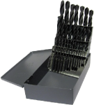 1.00mm - 13.00mm HSS Jobber Drill Bit Set, 25 Pieces (.5mm Increments), Drill America, D/A4025-SET USA