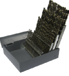 #1 - #60 Drill America HSS Jobber Drill Bit Set, 60 Pieces (Wire Sizes): Made in USA