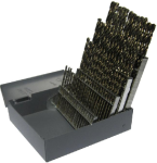 #1 - #60 Cobalt Steel Jobber Drill Bit Set, 60 Pieces, Drill America Made in USA