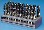 "1/2""-1""x64ths 33 Piece Cobalt Reduced Shank Drill Bit Set, Drill America Made in USA"