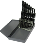 "1/16""-1/2""x32nds 15 Piece Tin Coated Drill Bit Set, Qualtech"
