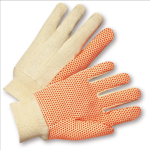 West Chester SOK01PDI Orange PVC Dotted 10. oz Cotton Canvas Gloves