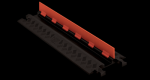 Checkers GD1X75-ST-O/B 1 Channel Protector with Standard Ramps - Orange/Black (Low Profile)