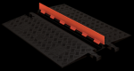 Checkers GD1X75-O/B 1 Channel Protector with ADA Ramps - Orange/Black (Low Profile)
