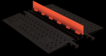 Checkers GD2X75-O/B 2 Channel Protector with ADA Ramps - Orange/Black (Low Profile)