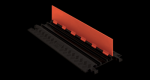 Checkers GD3X75-ST-O/B Channel Protector with Standard Ramps - Orange/Black (Low Profile)