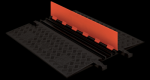 Checkers GD3X75-O/B 3 Channel Protector with ADA Ramps - Orange/Black (Low Profile)