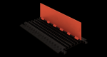 Checkers GD5X75-ST-O/B 5-Channel Protector with Standard Ramps - Orange/Black (Low Profile)