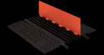 Checkers GD5X75-O/B 5-Channel Protector with ADA Ramps - Orange/Black (Low Profile)